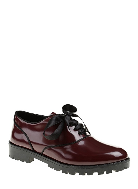 D by Divarese Oxford Ayakkabı Bordo